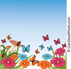 όμορφος , μικροβιοφορέας , καλοκαίρι , σκηνή