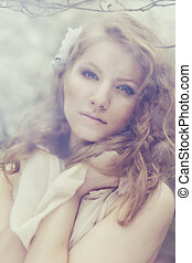 όμορφος , νέα γυναίκα , και , ακμάζων , rmagnolia