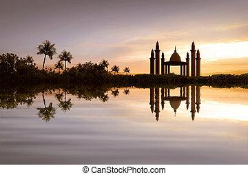 όμορφος , νερό , τζαμί , αντανάκλαση