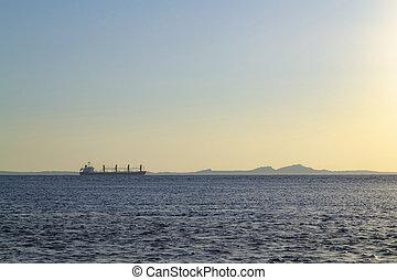 όμορφος , νησί , αίγυπτος , πάνω , sharm-el-sheikh, ηλιοβασίλεμα , saudi , θάλασσα , αραβία , tiran, κόκκινο