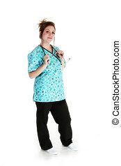 όμορφος , νοσοκόμα