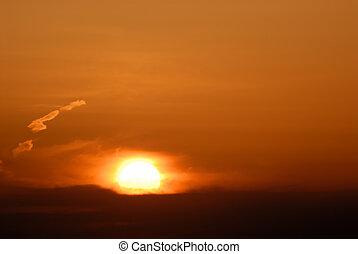 όμορφος , ουρανόs , ηλιοβασίλεμα