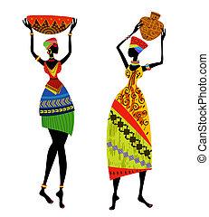 όμορφος , παραδοσιακός , γυναίκα , κοστούμι , αφρικανός