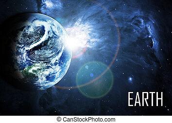 όμορφος , πλανήτης , sunriece, κόκκινο , διάστημα