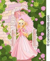 όμορφος , πριγκίπισα , σε , ακμή εικοσιτετράωρο
