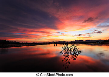 όμορφος , σιάμ , παραλία , ηλιοβασίλεμα , phuket