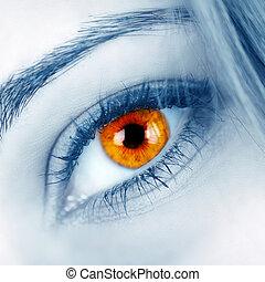 όμορφος , σχήμα , μάτι , γυναίκα
