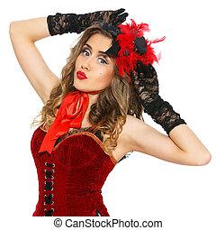 όμορφος , φόρεμα , κορίτσι , burlesque., ελκυστικός