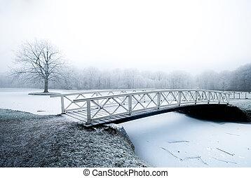 όμορφος , χειμερινός γραφική εξοχική έκταση