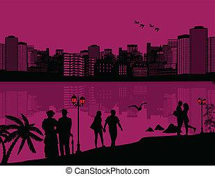όμορφος , cityscape , φόντο