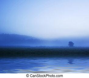 όμορφος , cloudscape , evokative, διαύγεια αντανάκλαση