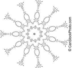 όμορφος , deco , μαύρο , mandala , μικροβιοφορέας