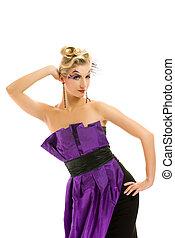 όμορφος , hairstyle , γυναίκα , μοντέρνος , δημιουργικός , φόρεμα