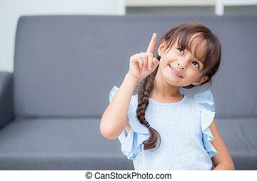όμορφος , happiness., παιδί , ιλαρός , παιδί , πορτραίτο , κορίτσι , έκφραση , χειρονομία
