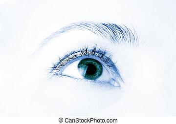 όμορφος , macro , μάτι , ανθρώπινος