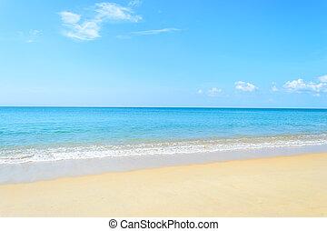 όμορφος , phuket , ουρανόs , naiyang, σιάμ , παραλία