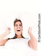 όμορφος , pillows., γενική ιδέα , αυτήν , επιχείρηση , ...