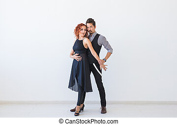 όμορφος , salsa, γενική ιδέα , kizomba, ζευγάρι , διάστημα , - , χορεύω , bachata, χορός , φόντο , κοινωνικός , άσπρο , αντίγραφο , ταγκό , άνθρωποι