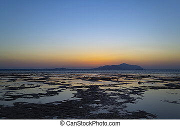 όμορφος , seascape., αίγυπτος , τροπικός , ανατολή , κόκκινο , sea.