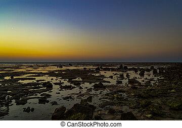 όμορφος , seascape., αίγυπτος , τροπικός , ηλιοβασίλεμα , sea., κόκκινο