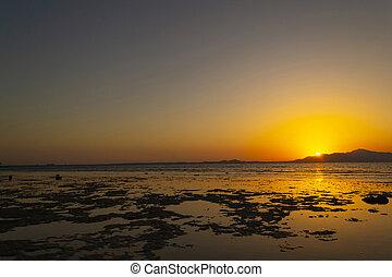 όμορφος , seascape., egypt., τροπικός , ανατολή , κόκκινο , sea.