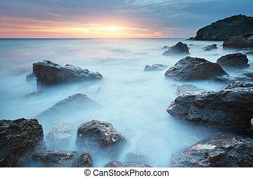 όμορφος , sunset., θαλασσογραφία