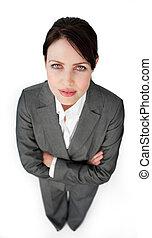 όπλα , επιχειρηματίαs γυναίκα , πορτραίτο , charismatic, δίπλωσα