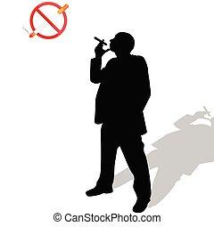 όχι , εικόνα , σήμα , παρουσιαστικό , κάπνισμα , άντραs