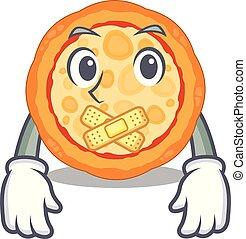 ό pizza , χαρακτήρας , σιωπηλός , πιάτο
