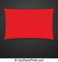 ύφασμα , μικροβιοφορέας , κόκκινο , banner.