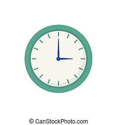 ώρα , άσπρο , στρογγυλός , φόντο , ρολόι , εικόνα , ώρα