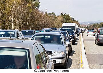 ώρα αιχμής , πελτέs , κυκλοφορία , κατά την διάρκεια , εθνική οδόs