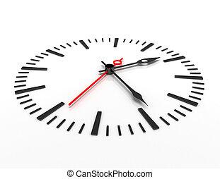 ώρα , γενική ιδέα , closeup , ρολόι , 3d