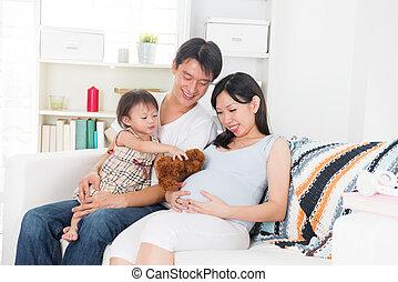 ώρα , μητέρα , οικογένεια , έγκυος , αυτήν , απολαμβάνω , ποιότητα