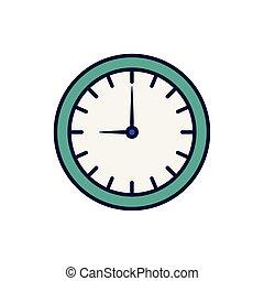 ώρα , ώρα , άσπρο , ρολόι , εικόνα , στρογγυλός , φόντο
