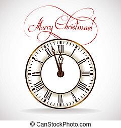 ώρα , xριστούγεννα , ρολόι