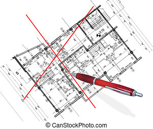 абстрактные, архитектура, план