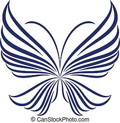 абстрактные, бабочка