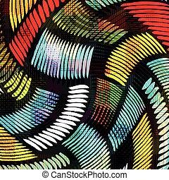 абстрактные, граффити, задний план, цветной