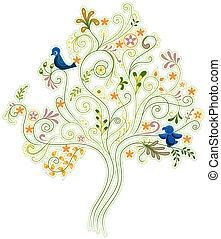 абстрактные, дерево