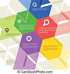 абстрактные, дизайн, геометрический, шаблон