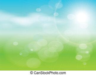 абстрактные, задний план, зеленый