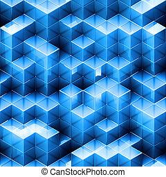 абстрактные, куб, бесшовный, задний план