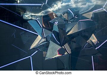 абстрактные, прозрачный, задний план, отражение