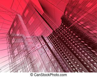 абстрактные, современное, здание