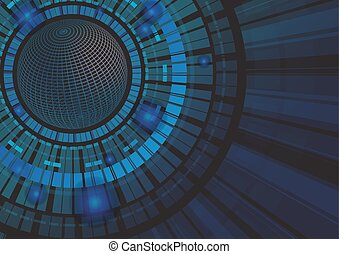 абстрактные, технологии, концепция, задний план, вектор, иллюстрация