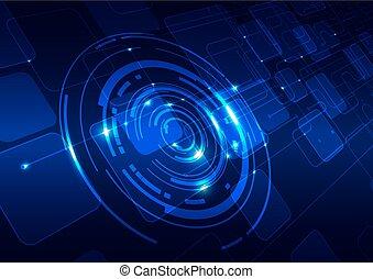 абстрактные, технологии, синий, задний план