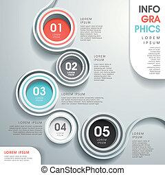 абстрактные, течь, диаграмма, infographics