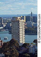 австралия, точка, сидней, новый, уэльс, блюз, башня, юг
