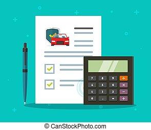 автомобиль, гарантия, безопасность, учет, контрольный список, охват, контракт, политика, вектор, форма, соглашение, или, автомобиль, средство передвижения, доктор, защита, гарантия, правовой, гарантия, запрос, квартира, забота, авто, страхование, документ